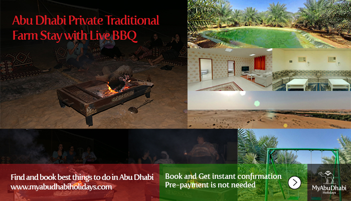 Abu Dhabi Private Traditional Farm stay with live BBQ